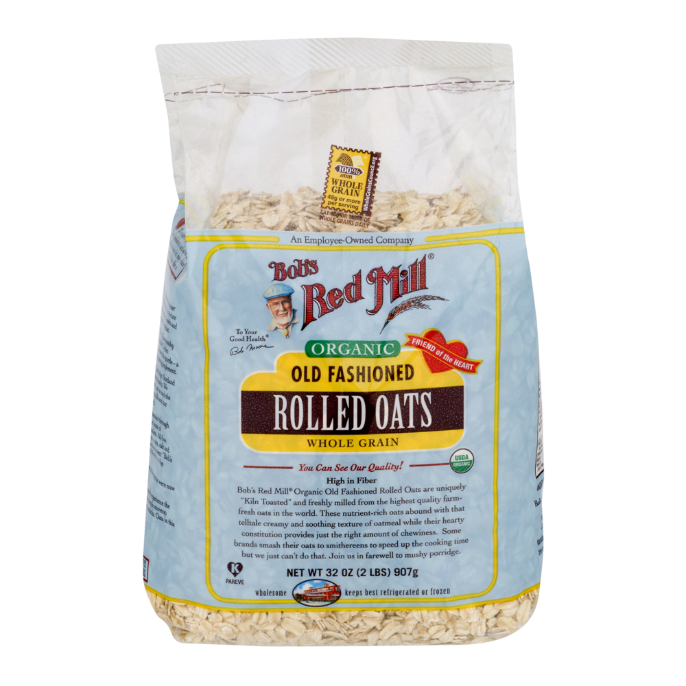 slide 1 of 1, Bob's Red Mill Organic Old Fashioned Rolled Oats Whole Grain,