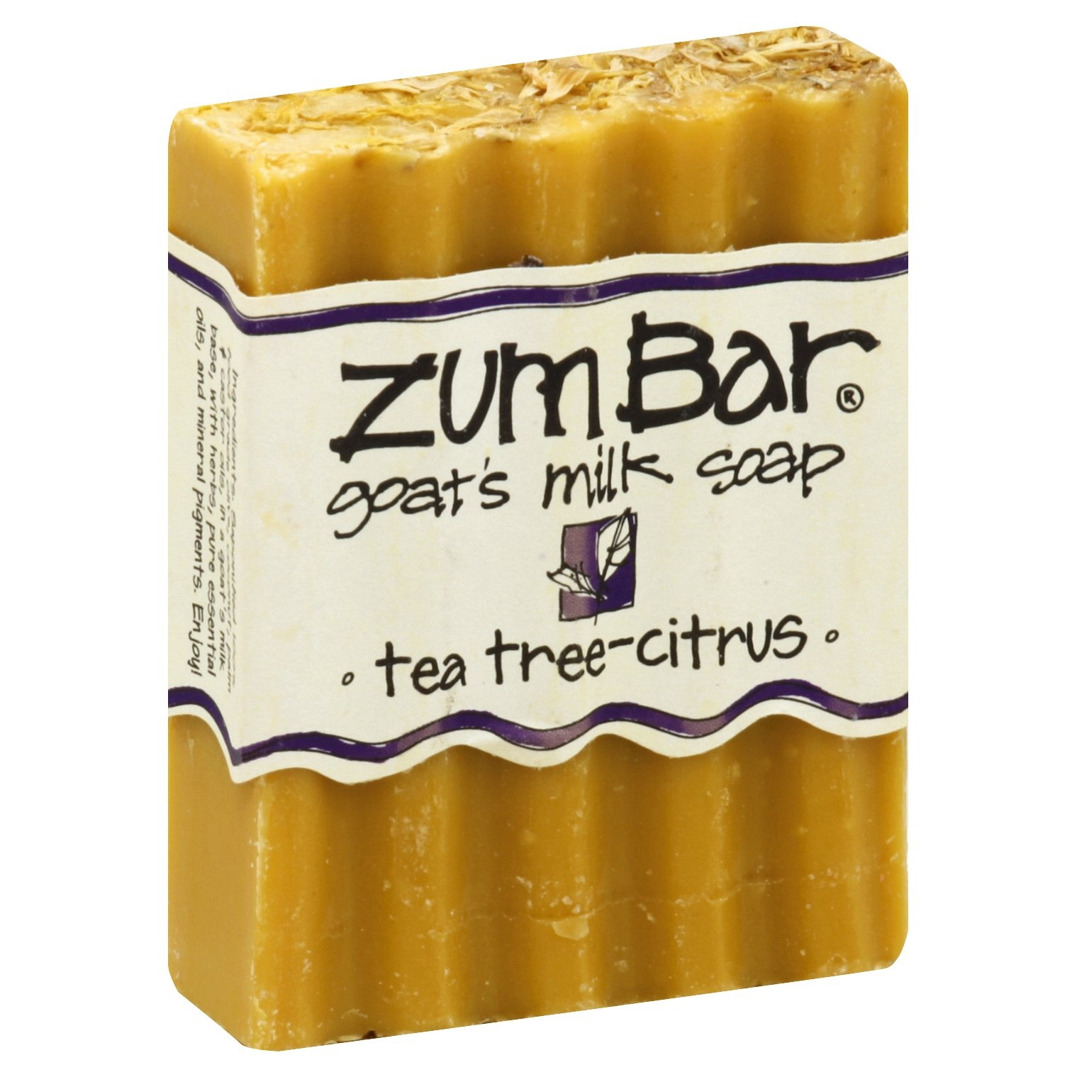 slide 1 of 1, Zum Bar Tea Tree Citrus Goats Milk Soap,