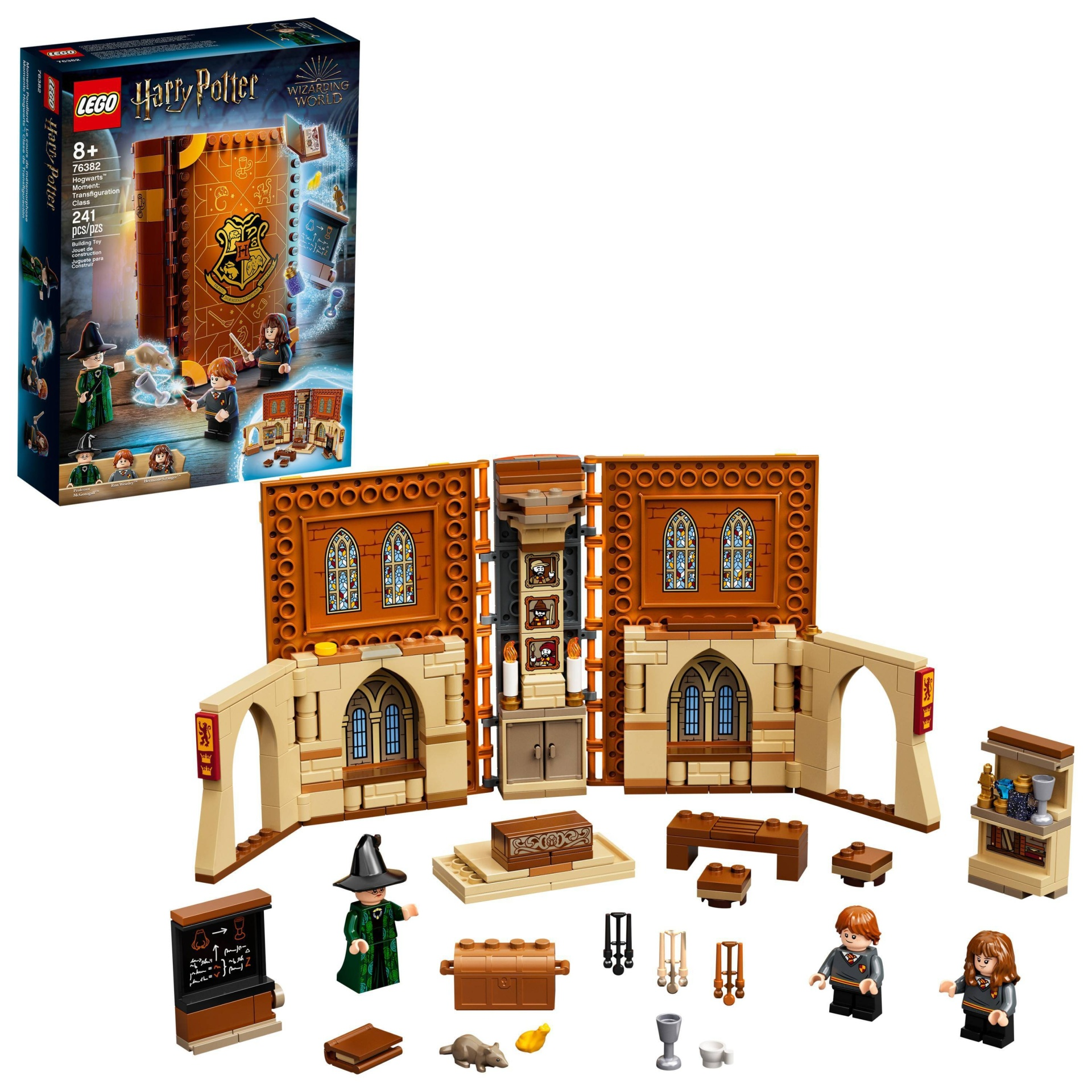 slide 1 of 7, LEGO Harry Potter Hogwarts Moment: Transfiguration Class; Collectible Playset 76382,