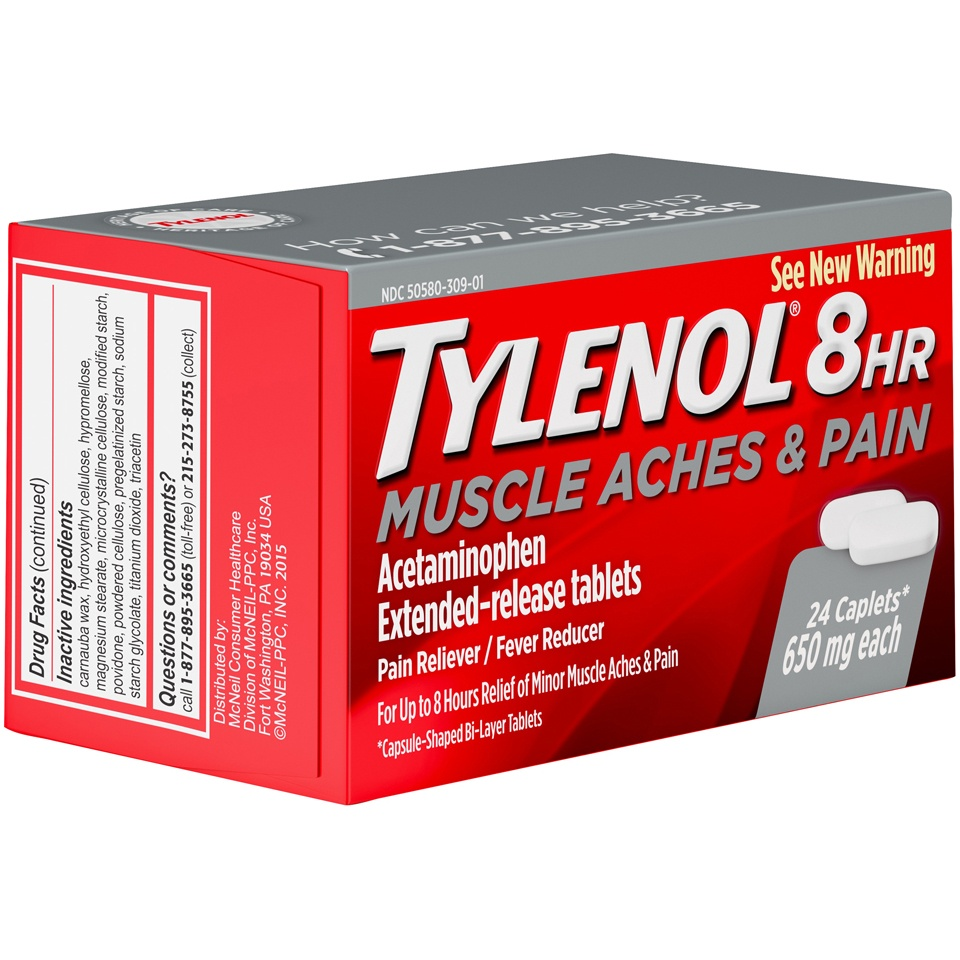 slide 2 of 6, Tylenol 8 Hr Muscle Aches & Pain,