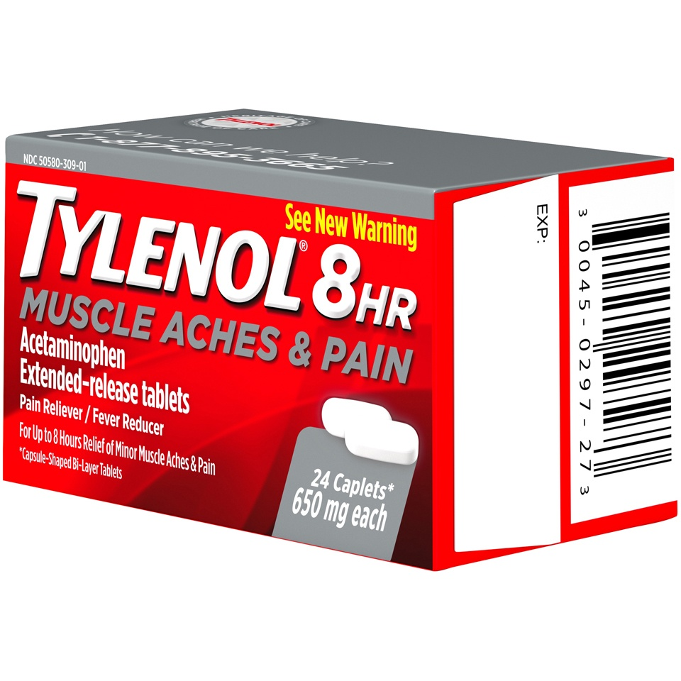 slide 3 of 6, Tylenol 8 Hr Muscle Aches & Pain,