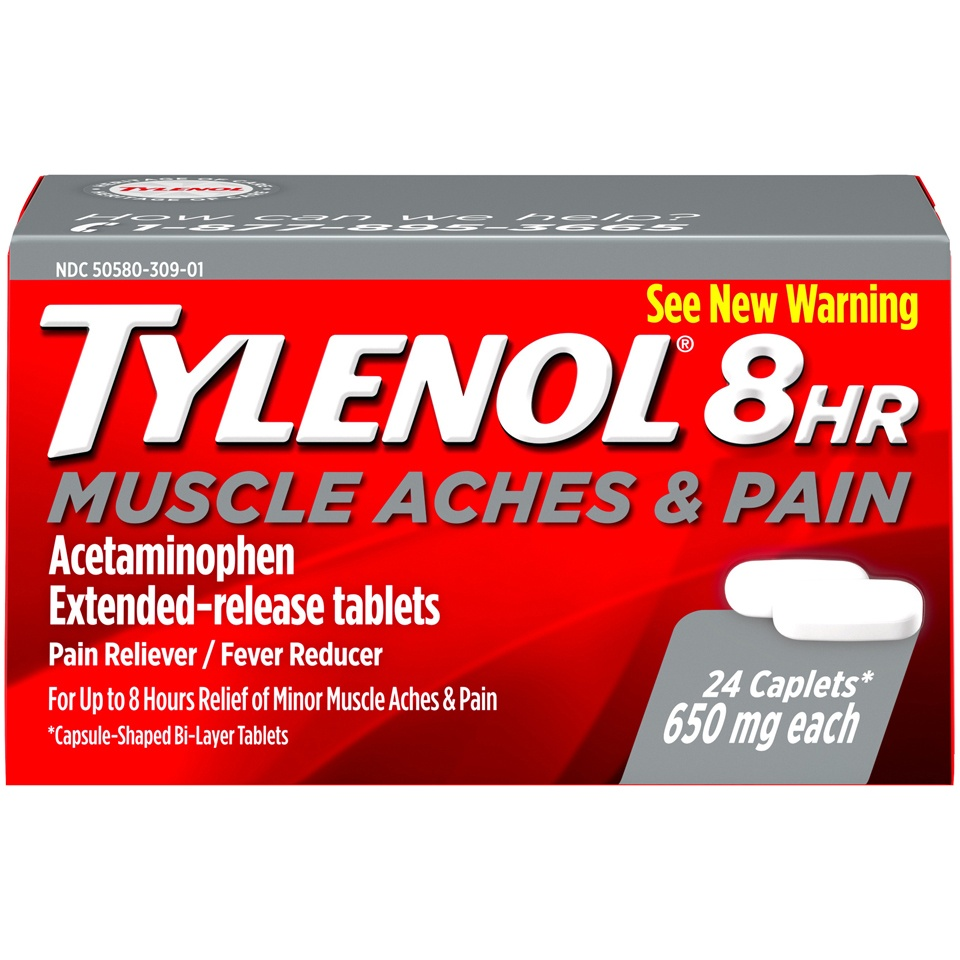slide 1 of 6, Tylenol 8 Hr Muscle Aches & Pain,