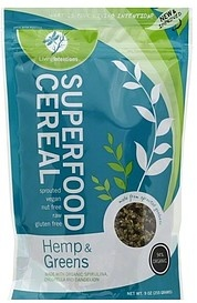 slide 1 of 1, Living Intentions Hemp & Greens Superfood Cereal,