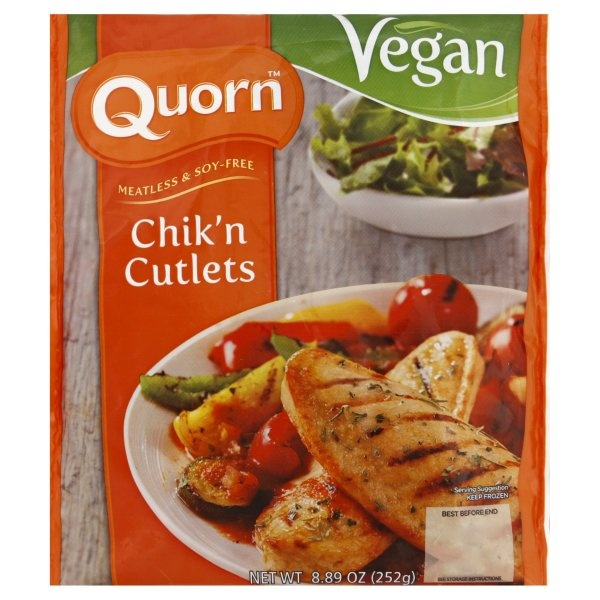slide 1 of 1, Quorn Vegan Cutlets,