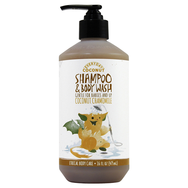 slide 1 of 1, Alaffia Shampoo & Body Wash - Coconut, Chamomile,