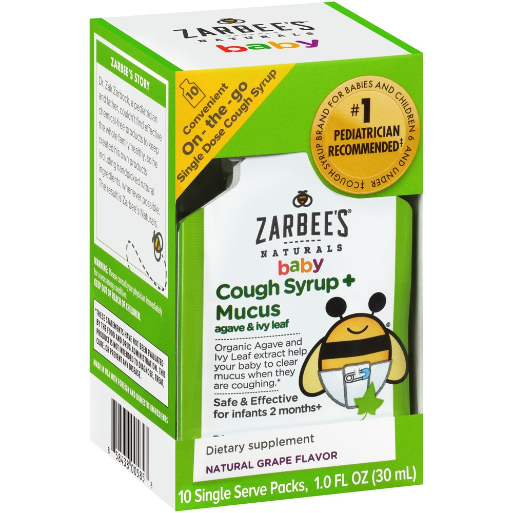 slide 2 of 6, Zarbee's Naturals Baby Cough Syrup + Mucus Relief,