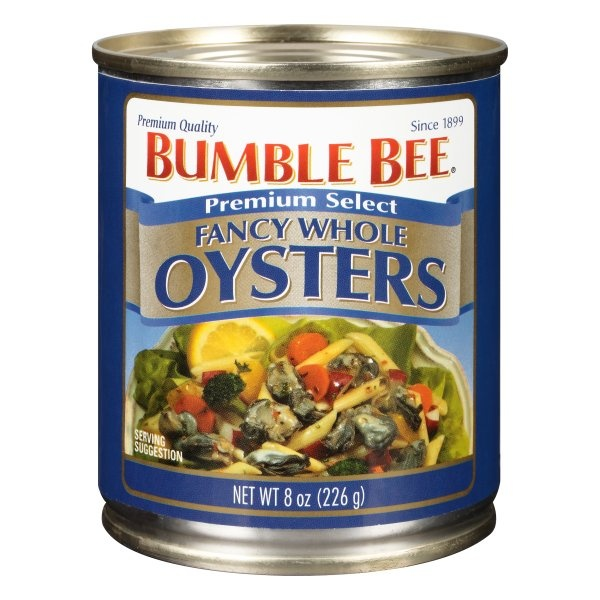 slide 1 of 8, Bumble Bee Whole Fancy Oysters,