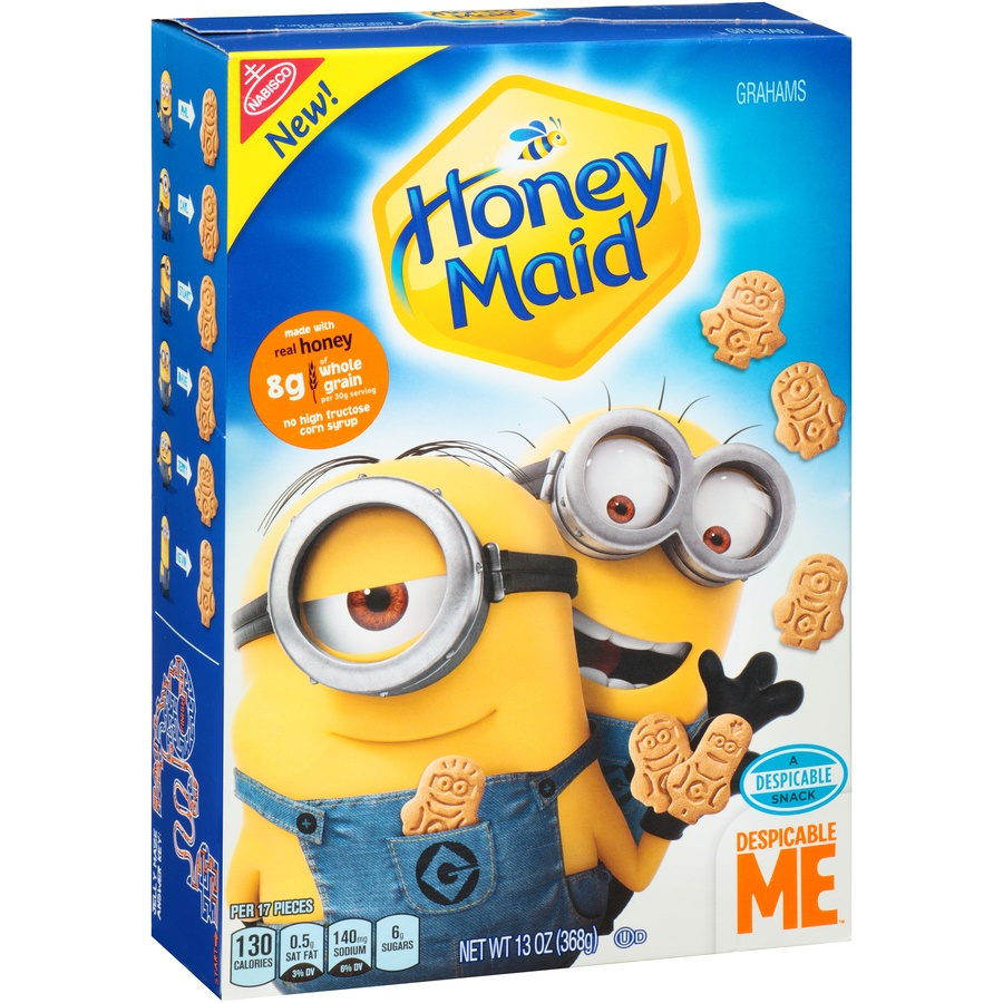 slide 2 of 8, Honey Maid Despicable Me Graham Crackers,