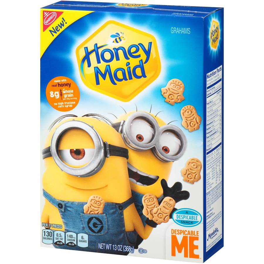 slide 3 of 8, Honey Maid Despicable Me Graham Crackers,