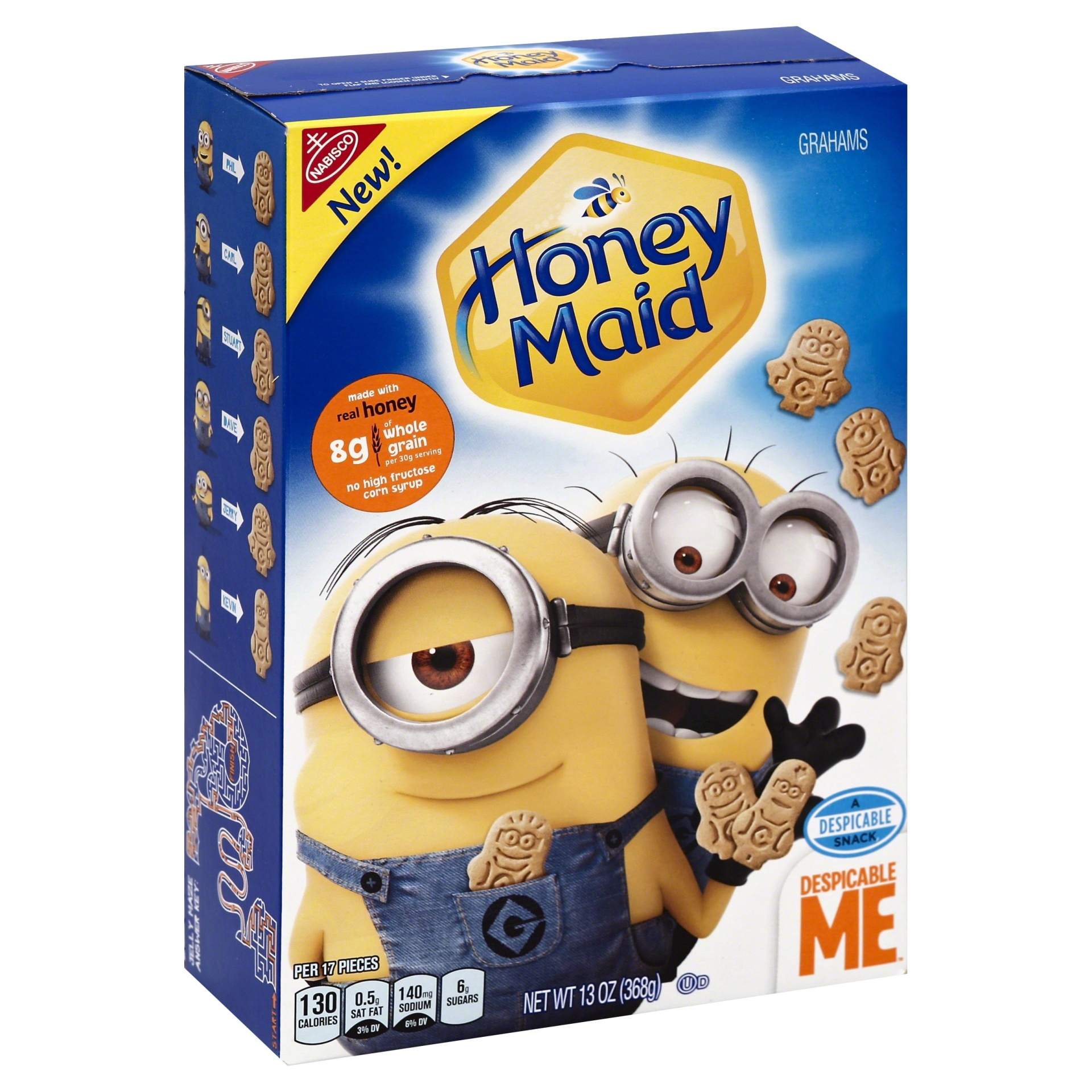 slide 1 of 8, Honey Maid Despicable Me Graham Crackers,