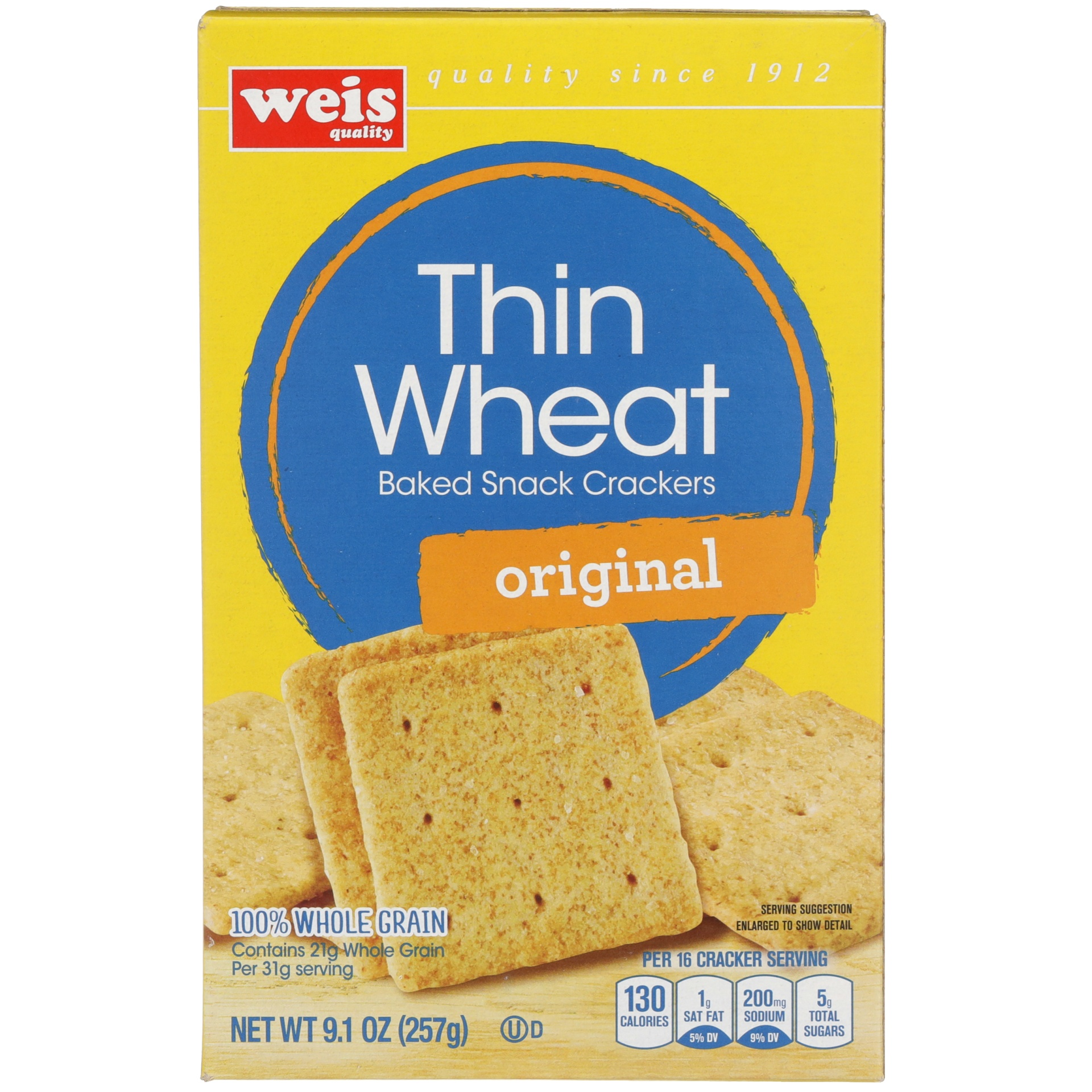 slide 3 of 6, Weis Quality Wheat Thin Cracker,