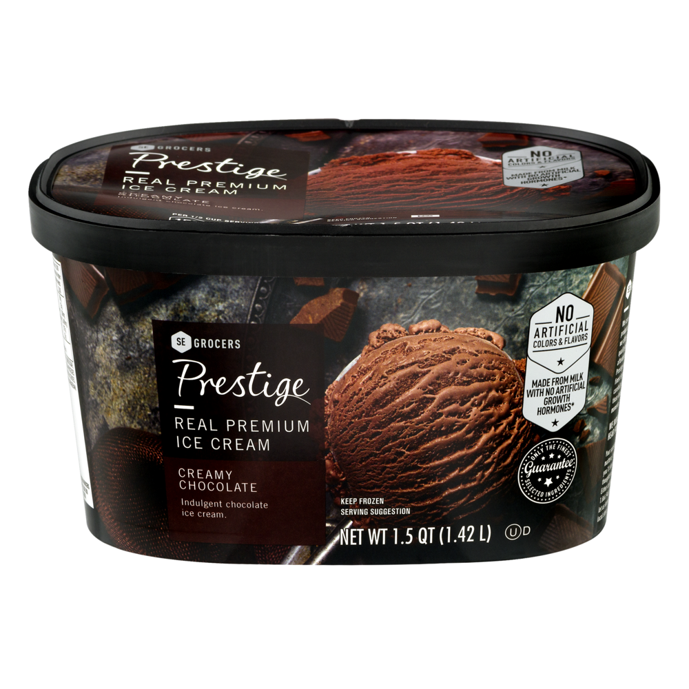slide 1 of 1, Prestige Real Premium Ice Cream Creamy Chocolate,