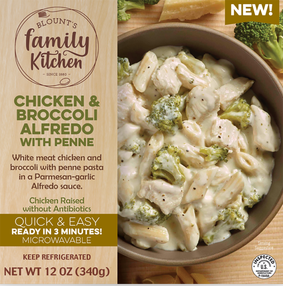 slide 1 of 1, Blount's Family Kitchen Chicken Broccoli Alfredo With Penne,