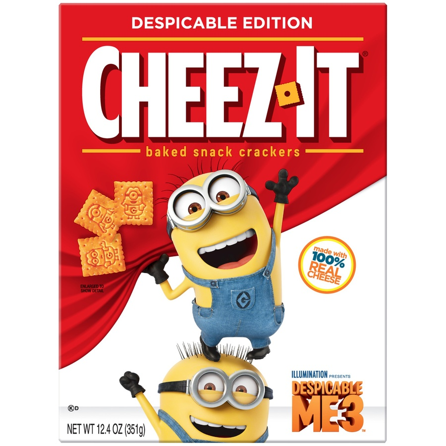 slide 2 of 8, Cheez-It Despicable Me 3 Baked Snack Crackers,