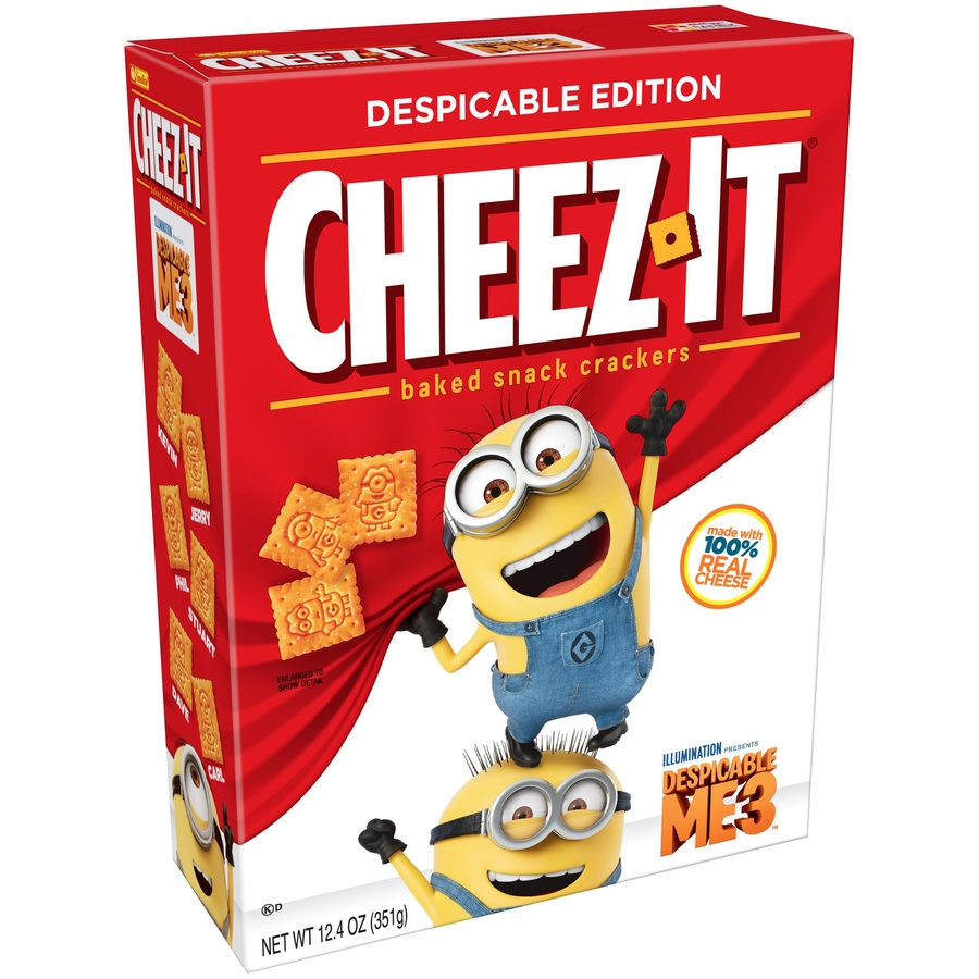 slide 3 of 8, Cheez-It Despicable Me 3 Baked Snack Crackers,
