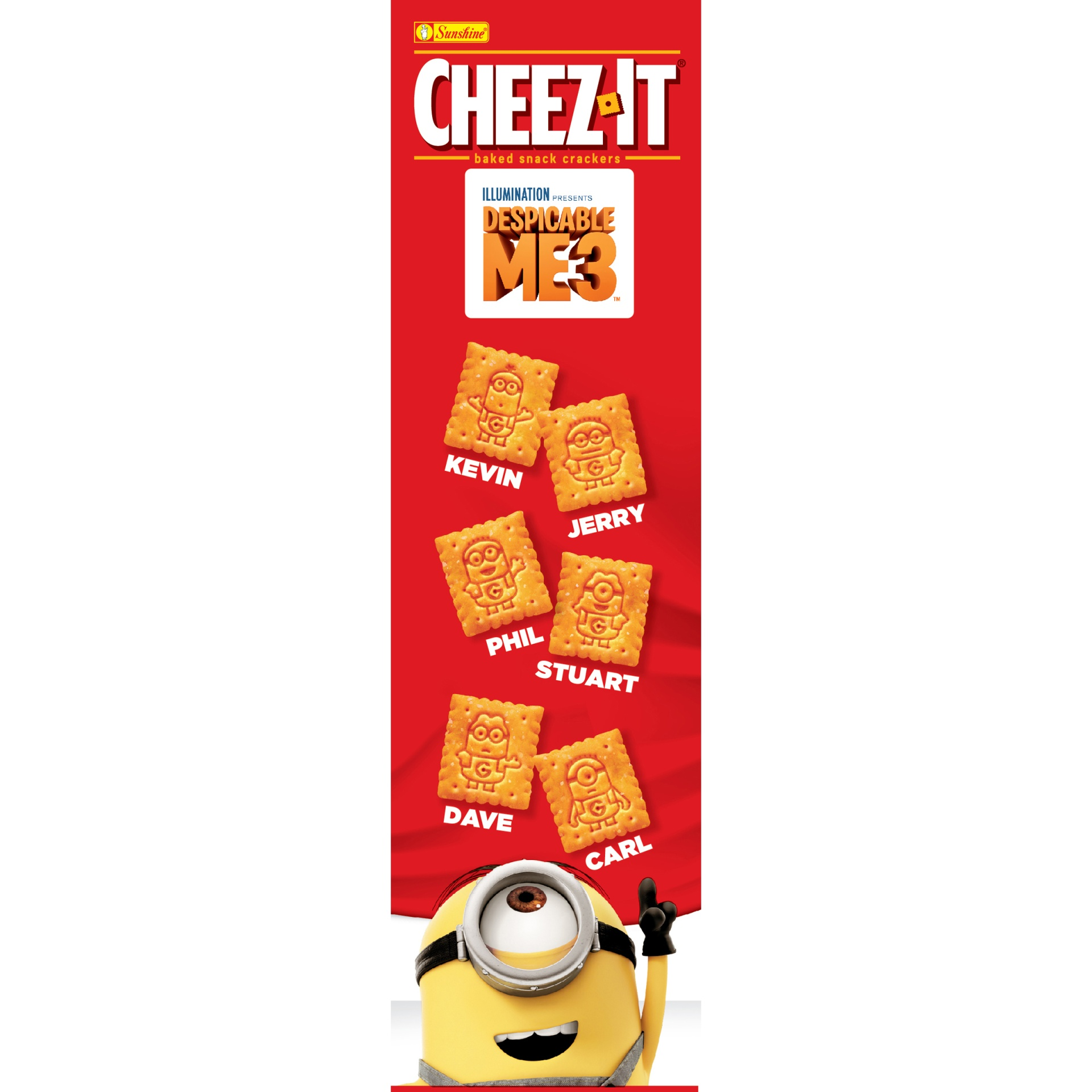 slide 4 of 8, Cheez-It Despicable Me 3 Baked Snack Crackers,