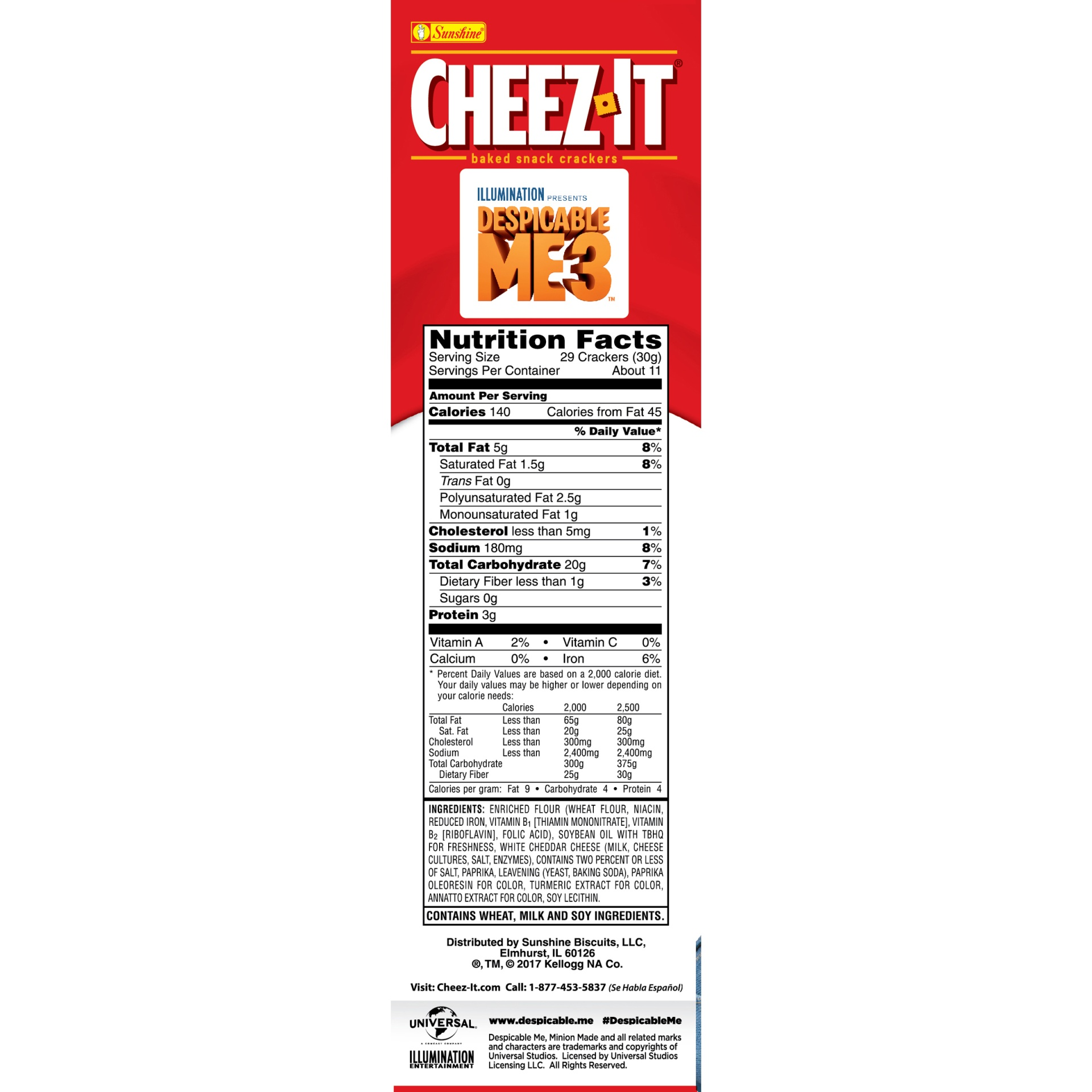slide 5 of 8, Cheez-It Despicable Me 3 Baked Snack Crackers,