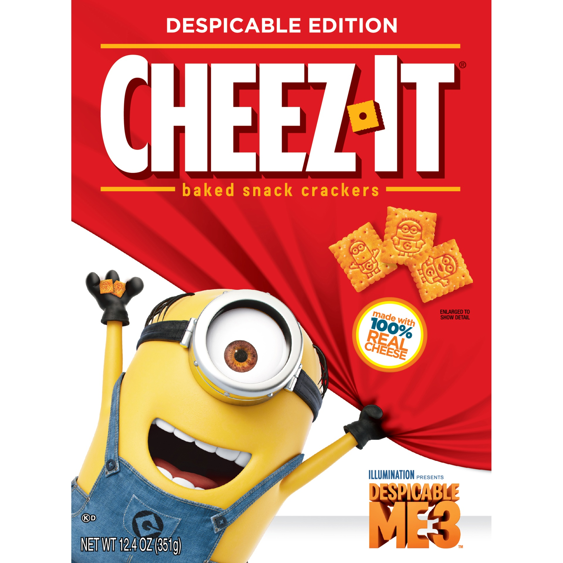 slide 6 of 8, Cheez-It Despicable Me 3 Baked Snack Crackers,