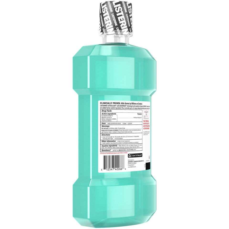 slide 2 of 6, Listerine Ultraclean Cool Mint Antiseptic Mouthwash,