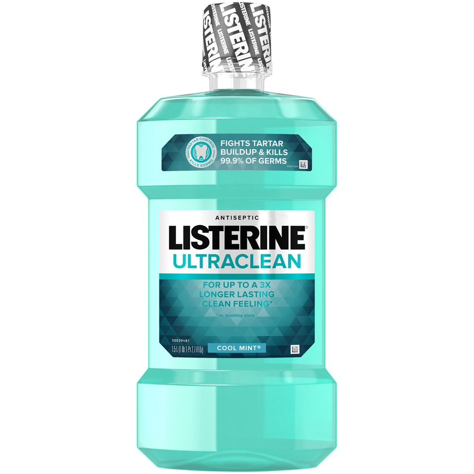 slide 1 of 6, Listerine Ultraclean Cool Mint Antiseptic Mouthwash,