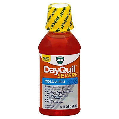 slide 1 of 2, Vicks DayQuil Severe Cold & Flu Liquid,