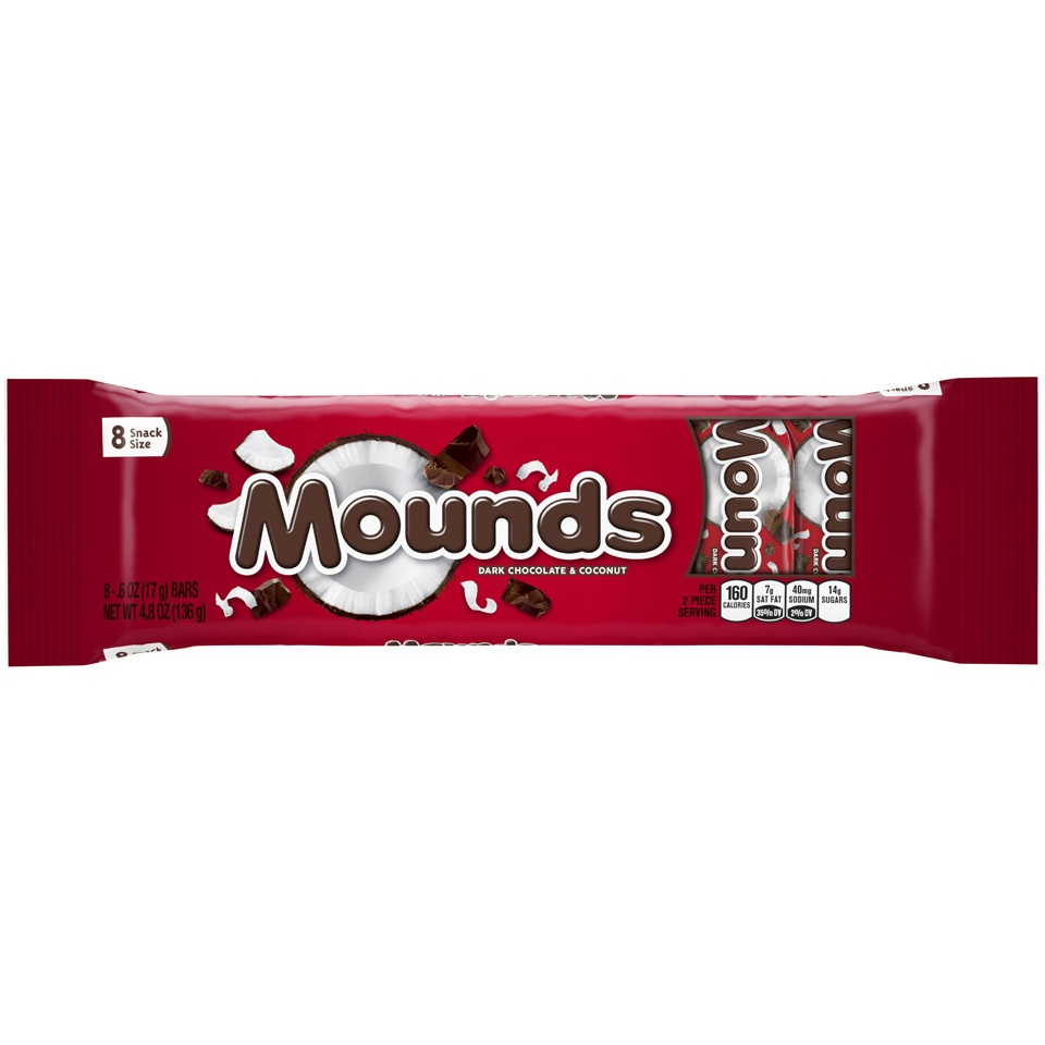 slide 1 of 1, Mounds Snack Size Candy Bars,