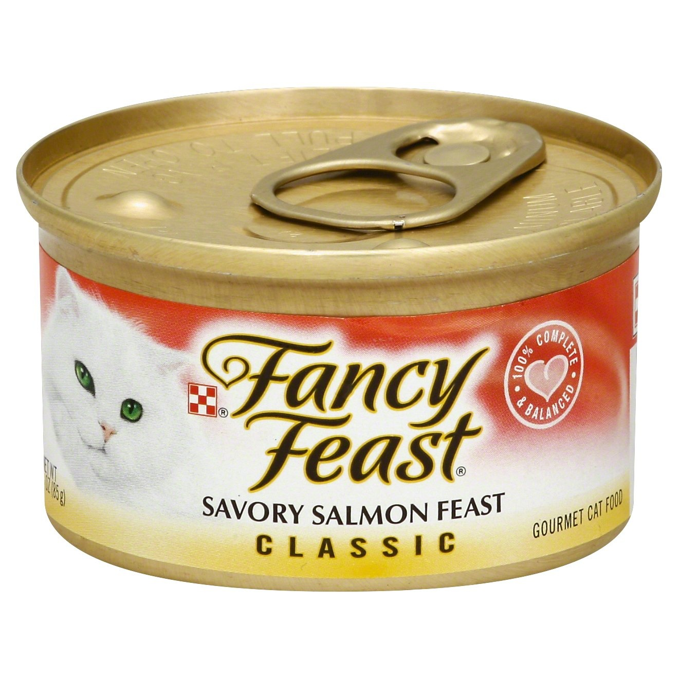 slide 1 of 7, Purina Fancy Feast Classic Savory Salmon Feast Cat Food,