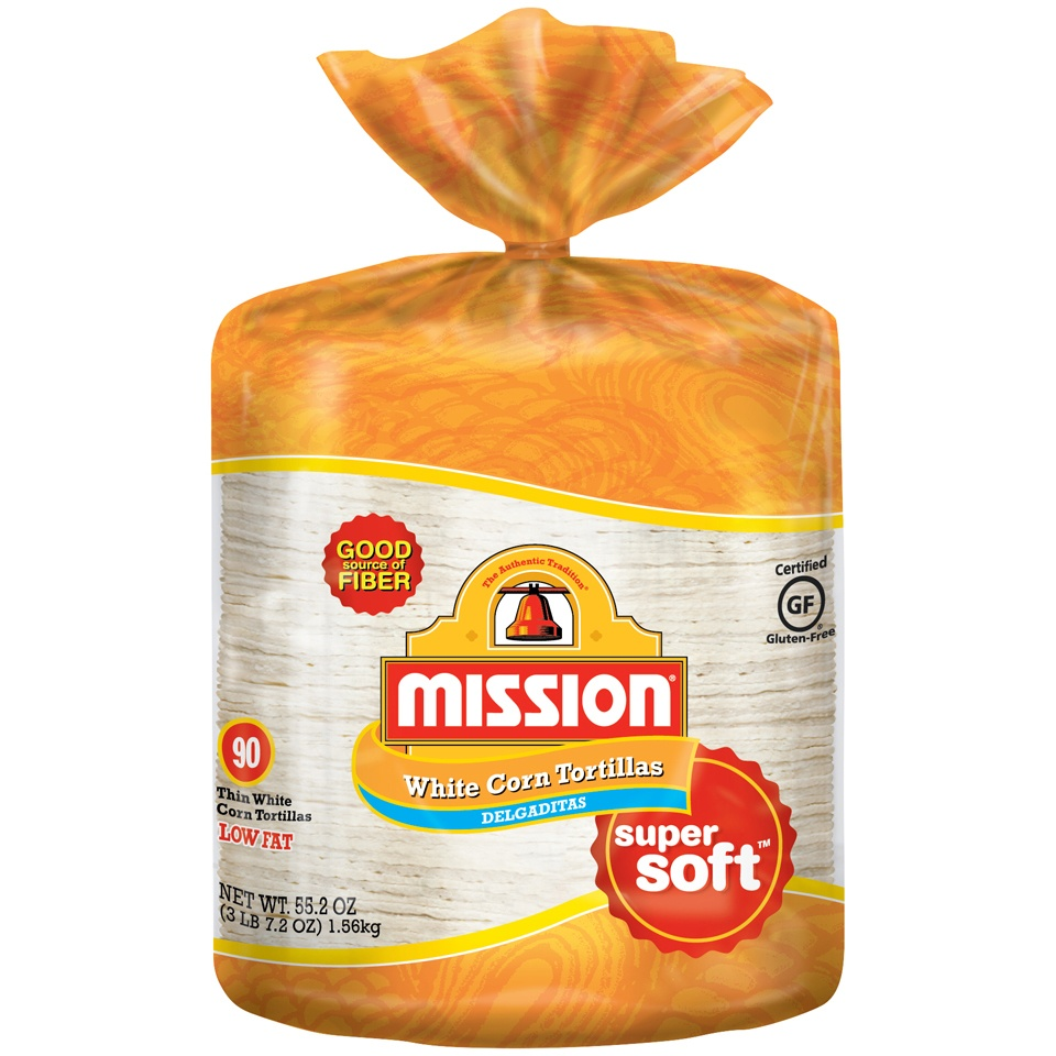 slide 1 of 4, Mission Thin White Corn Tortillas 90 ct Bag,