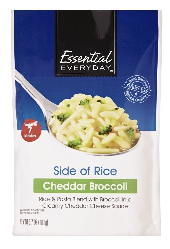 slide 1 of 1, Essential Everyday Cheddar Broccoli Side of Rice,
