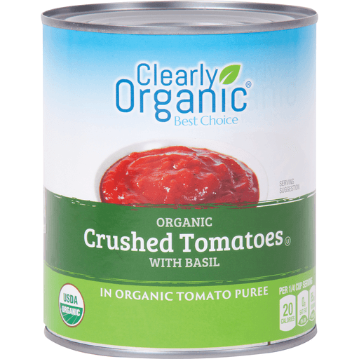 slide 1 of 1, Clearly Organic Crushed Tomatoes with Basil,