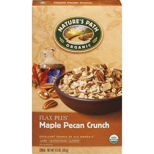 slide 2 of 9, Nature's Path Organic Flax Plus Maple Pecan Cereal,