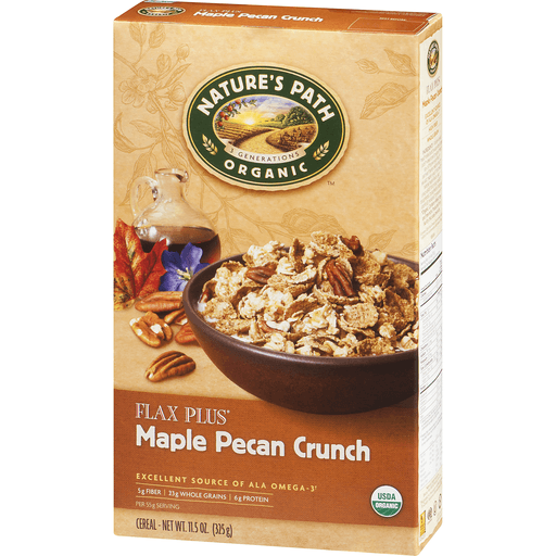 slide 3 of 9, Nature's Path Organic Flax Plus Maple Pecan Cereal,