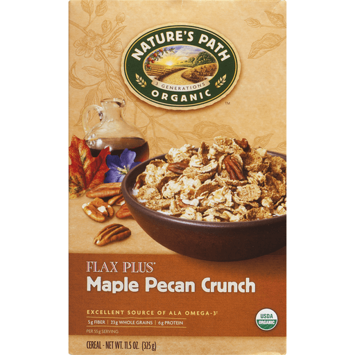 slide 4 of 9, Nature's Path Organic Flax Plus Maple Pecan Cereal,