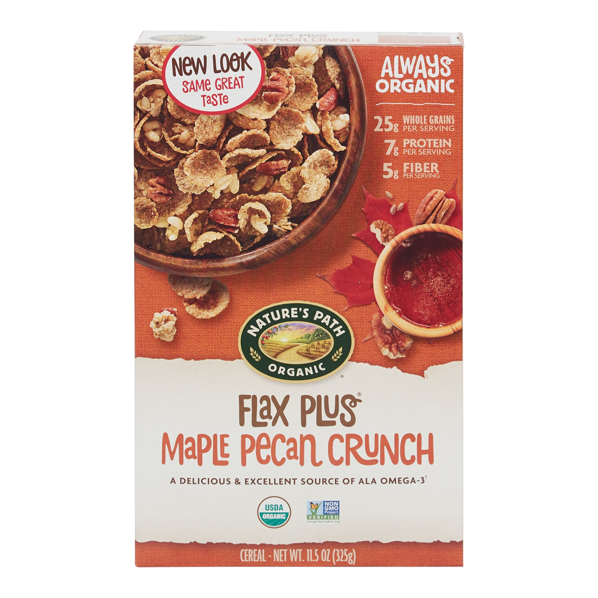 slide 1 of 9, Nature's Path Organic Flax Plus Maple Pecan Cereal,