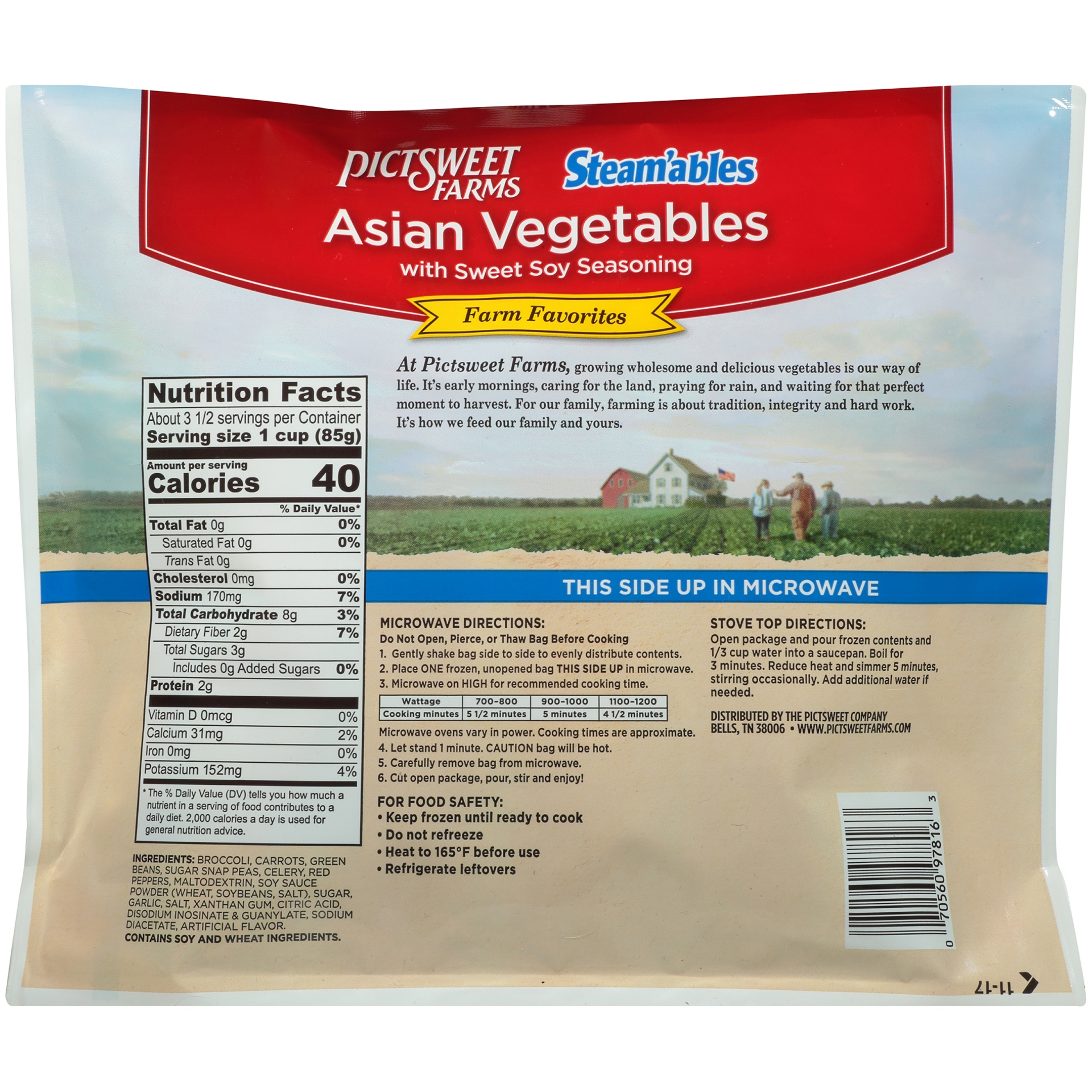 slide 4 of 6, PictSweet Steamables Seasoned Asian Vegetables,