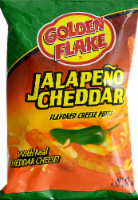 slide 1 of 1, Golden Flake Jalapeno Cheddar Flavored Cheese Puffs,