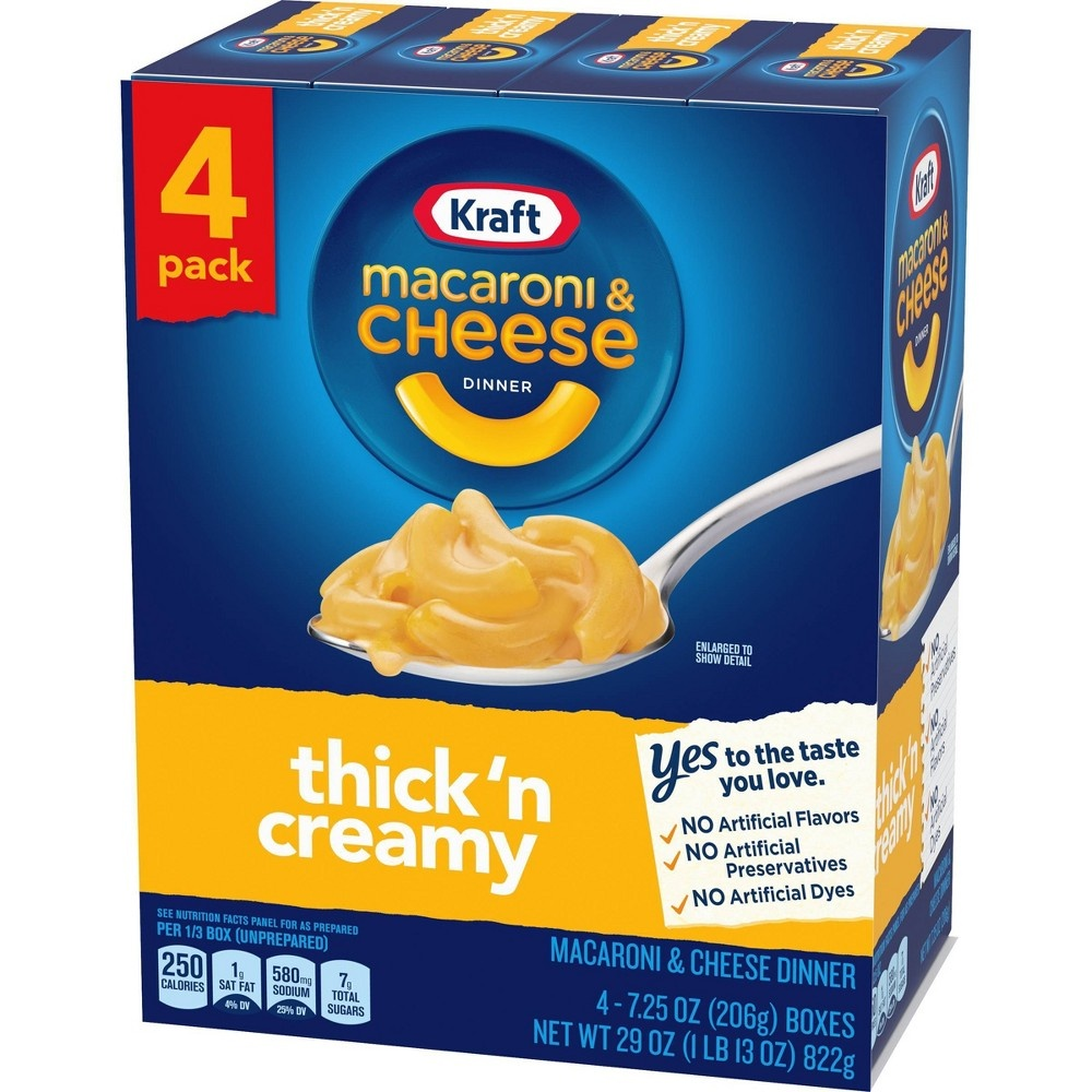 slide 3 of 5, Kraft Thick 'N Creamy Macaroni & Cheese Dinner 4-7.25 Oz. Boxes,