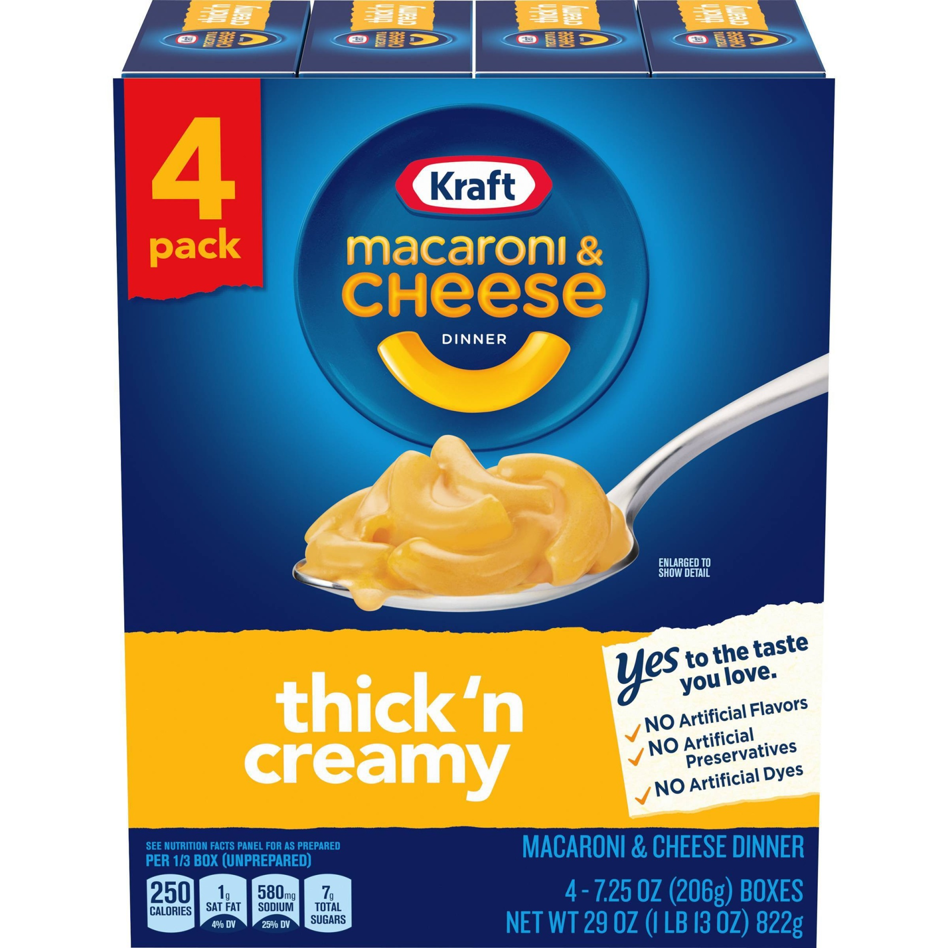 slide 1 of 5, Kraft Thick 'N Creamy Macaroni & Cheese Dinner 4-7.25 Oz. Boxes,