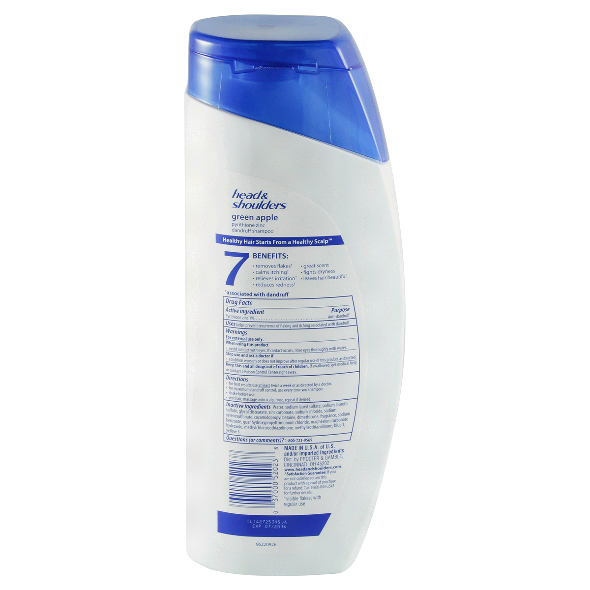 slide 2 of 3, Head & Shoulders Green Apple Dandruff Shampoo,