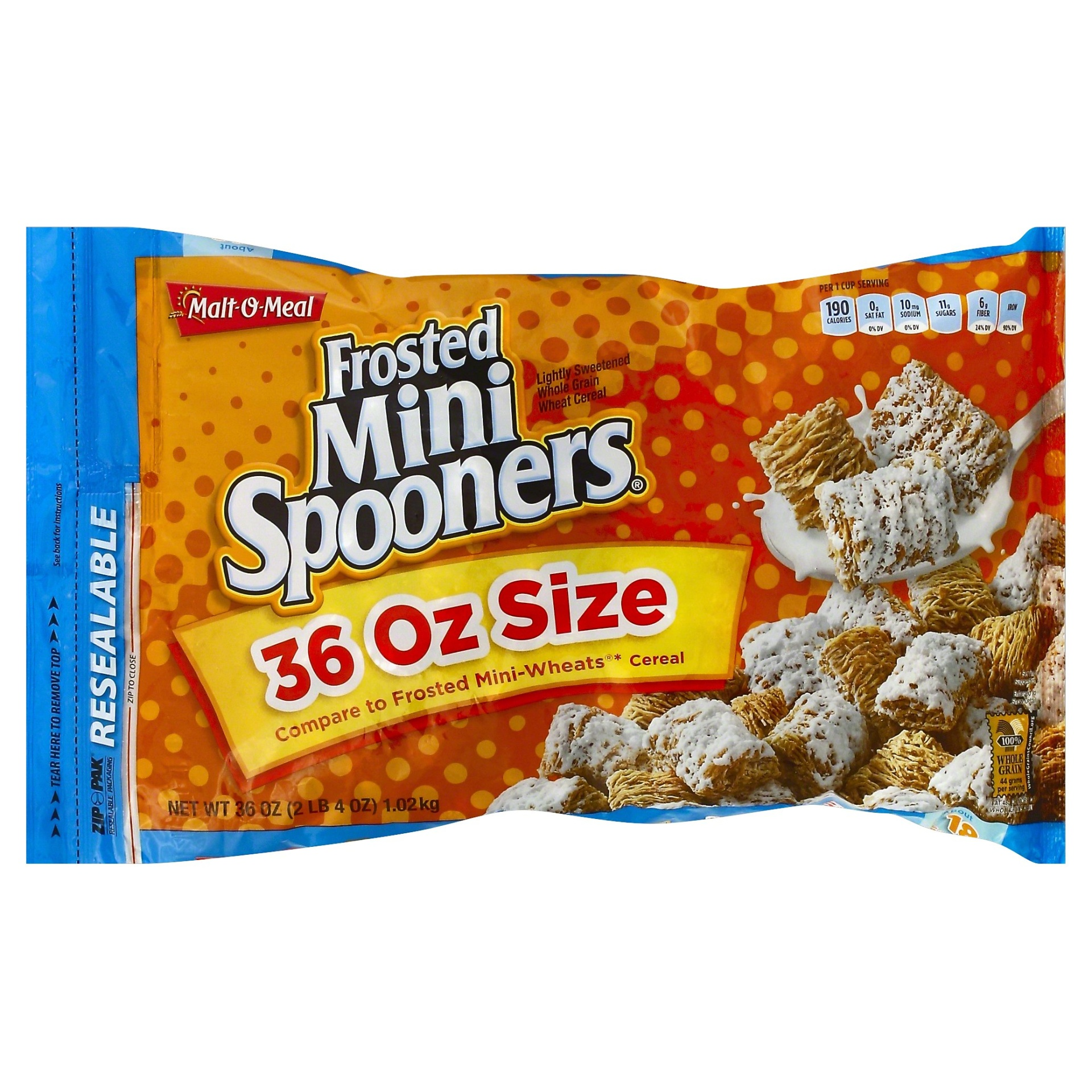 slide 1 of 4, Malt-O-Meal Frosted Mini Spooners,