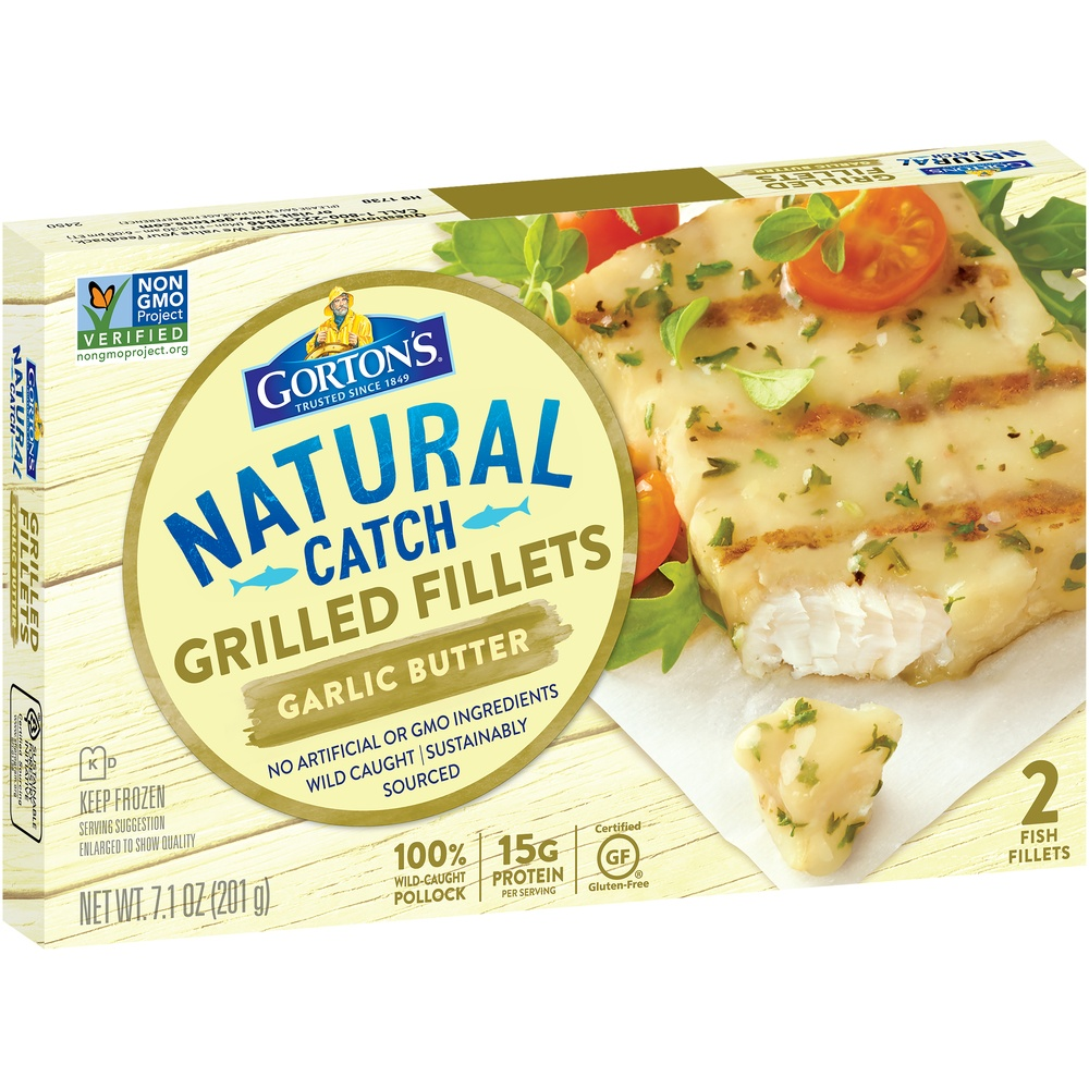 slide 2 of 8, Gorton's Grilled Garlic Butter Fish Fillets,