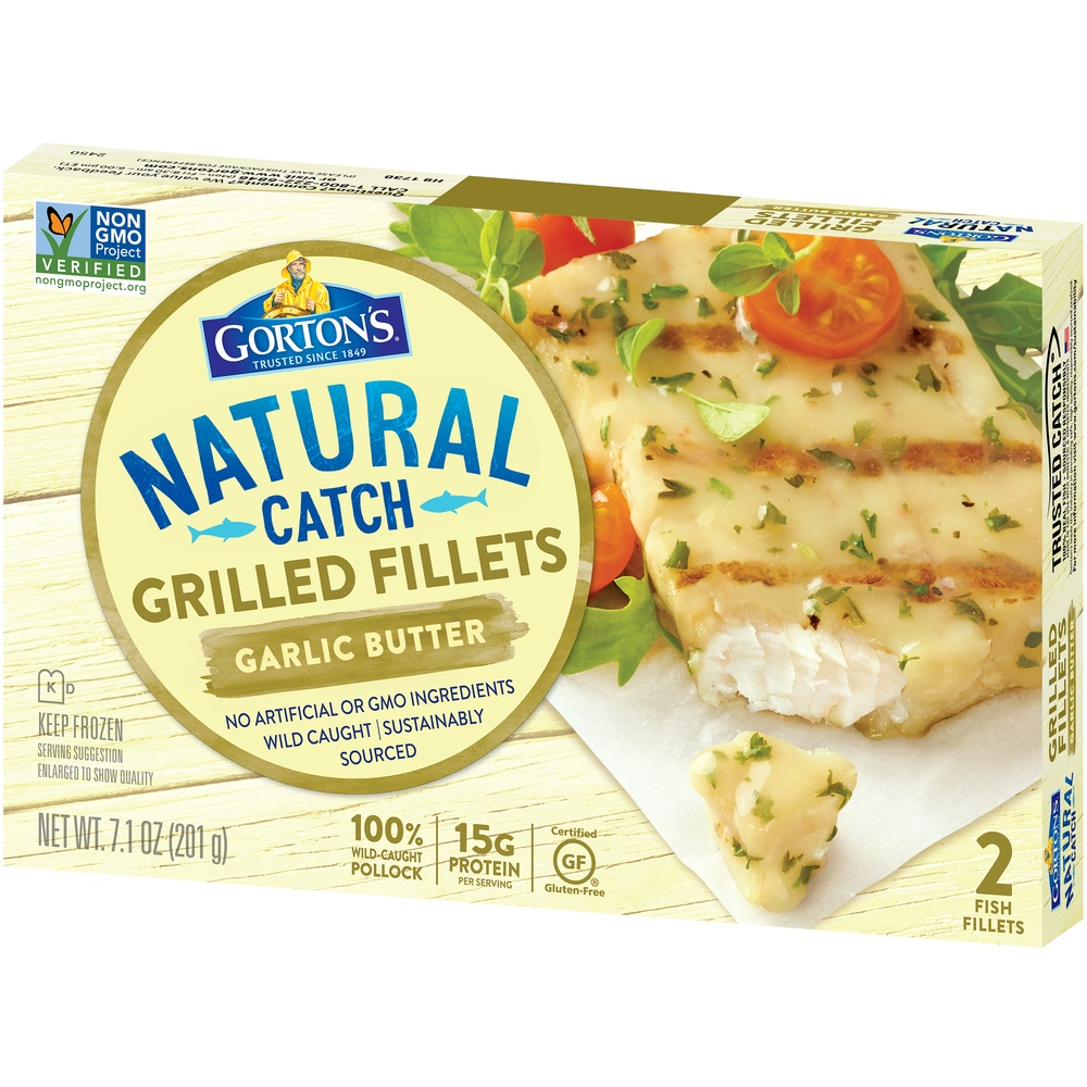 slide 3 of 8, Gorton's Grilled Garlic Butter Fish Fillets,