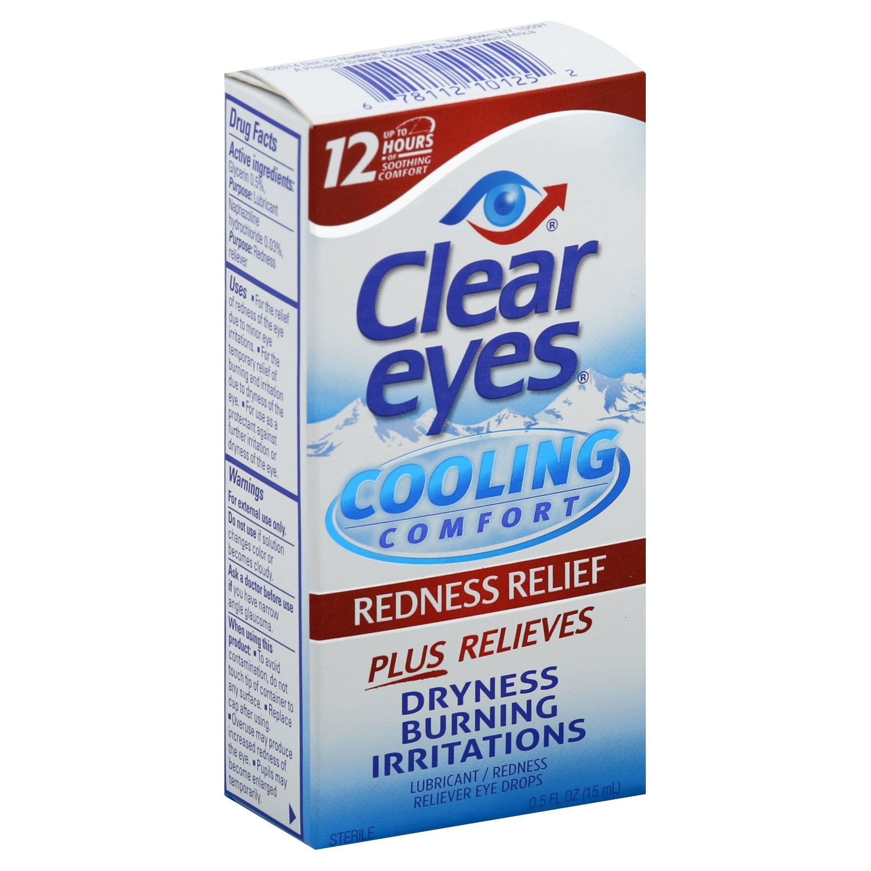 slide 1 of 4, Clear Eyes Cooling Comfort Redness Relief Eye Drops,