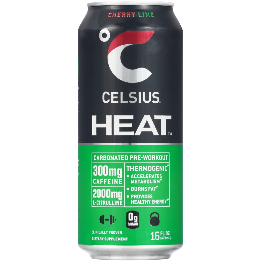 slide 1 of 6, CELSIUS Heat Cherry Lime Dietary Supplement,