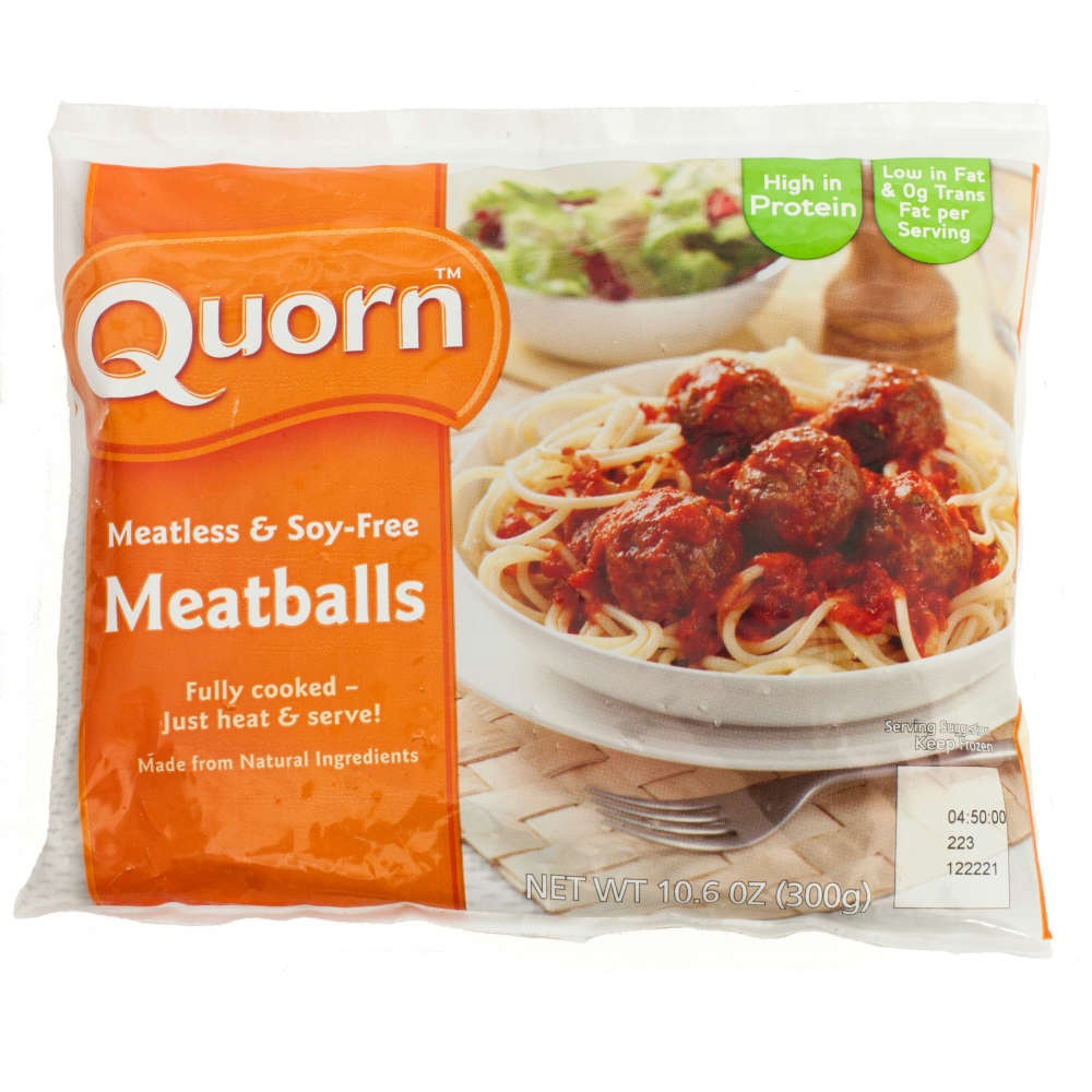 slide 1 of 1, Quorn Foods Meatless & Soy Free Meatballs,