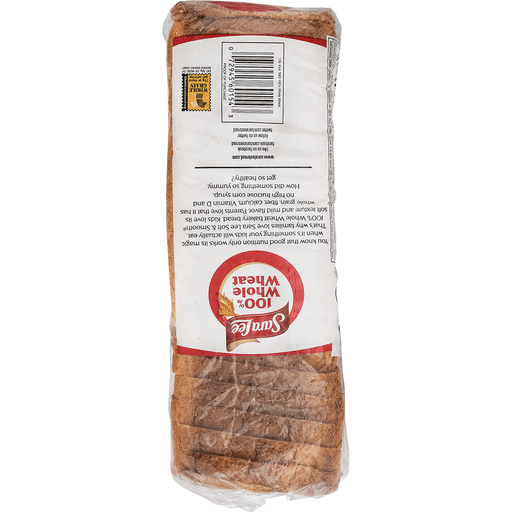 slide 9 of 9, Sara Lee 100% Whole Wheat Soft & Smooth Bread,