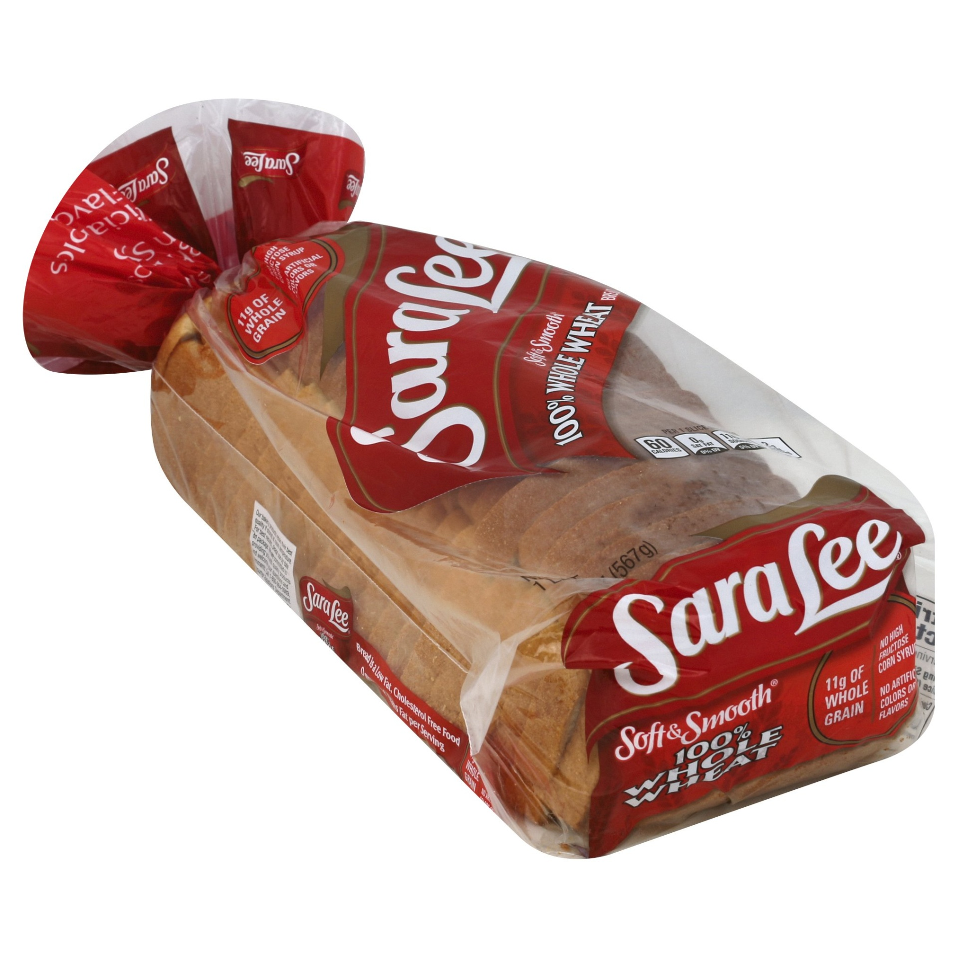 slide 1 of 9, Sara Lee 100% Whole Wheat Soft & Smooth Bread,