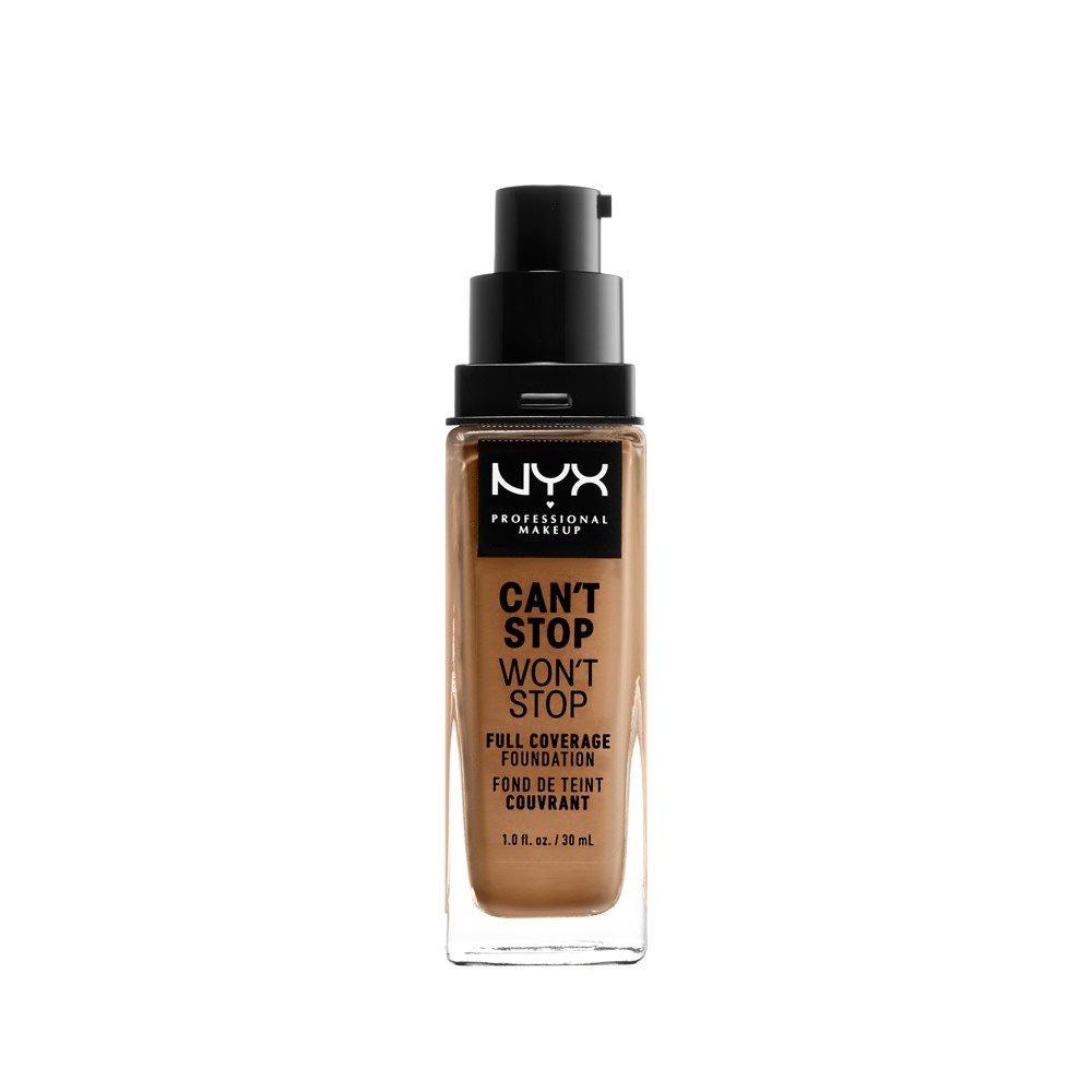 slide 3 of 3, NYX Professional Makeup Can't Stop Won't Stop Full Coverage Foundation - Golden Honey,