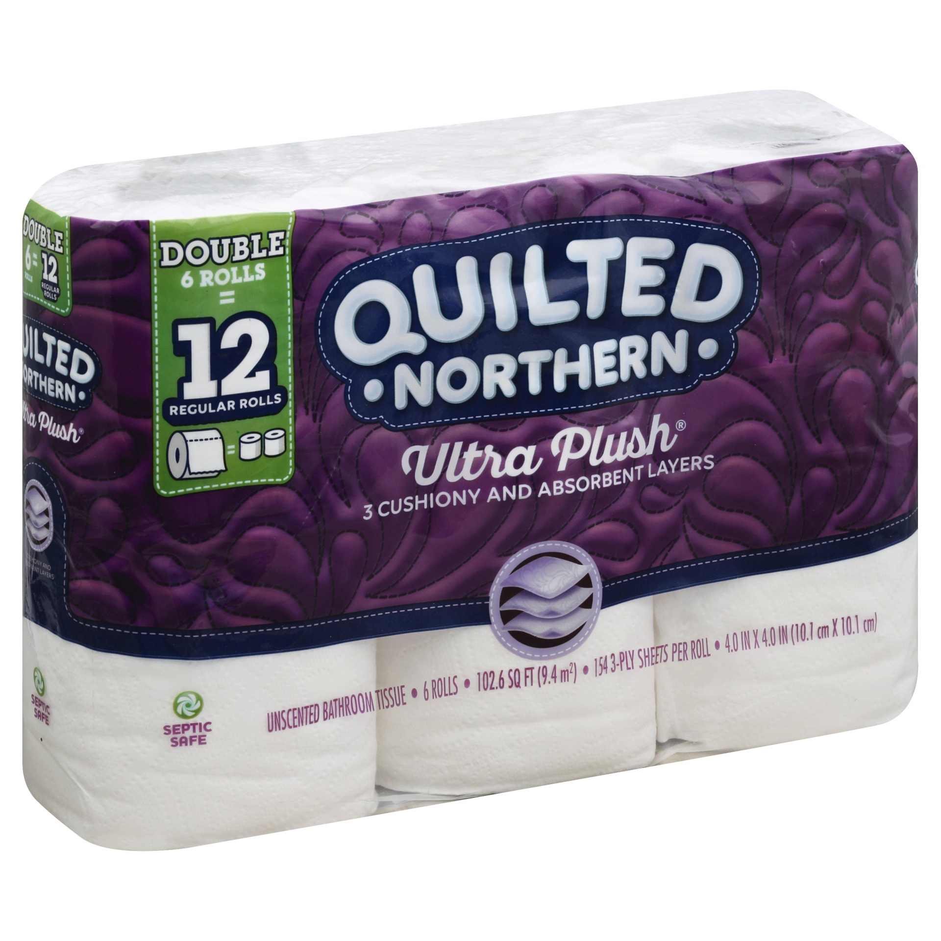slide 1 of 6, Quilted Northern Ultra Plush Toilet Paper 6 Double Rolls,