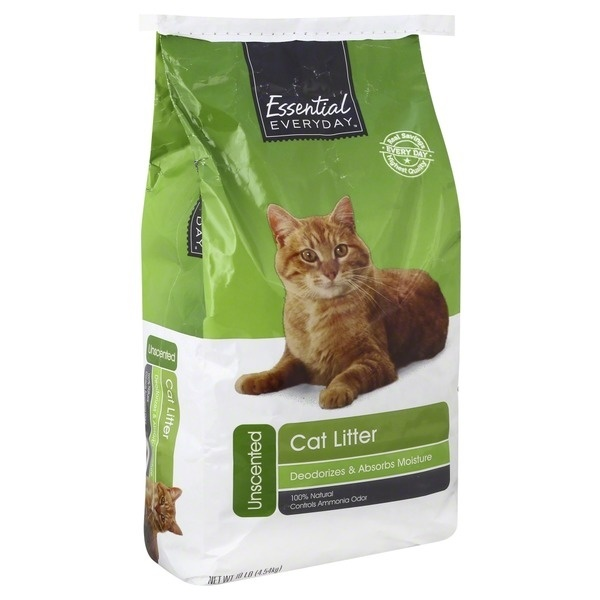 slide 1 of 1, Essential Everyday Unscented Cat Litter,